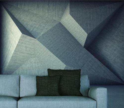 Fototapeta do salonu z motywem abstrakcji 3D