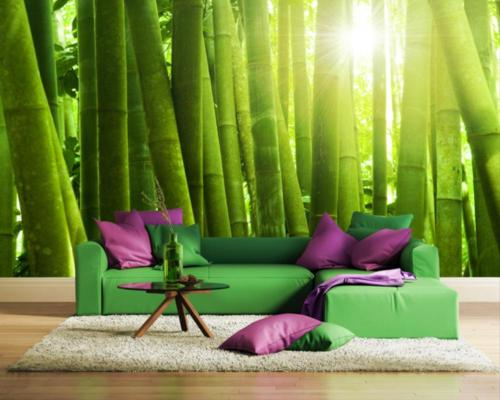 Fototapeta do salonu z motywem bambusów