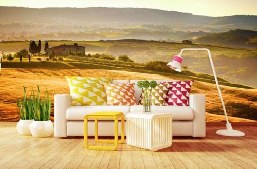 Fototapeta do salonu z motywem krajobrazu Toskanii