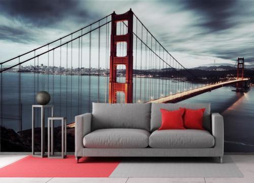 Fototapeta do salonu z motywem mostu Golden Gate
