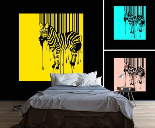 fototapeta zebra w stylu pop art