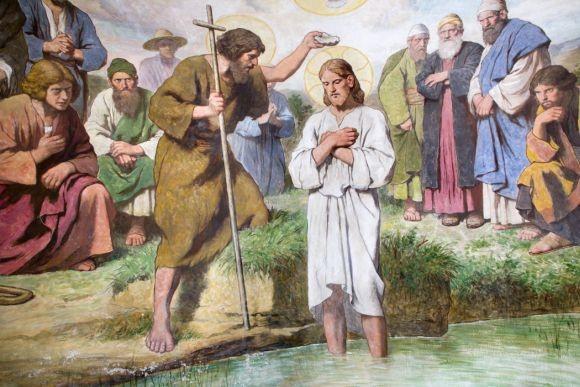 Znalezione obrazy dla zapytania chrzest jezusa