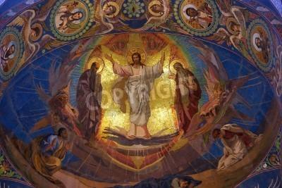 Fototapeta Mozaika z Jezusem Chrystusem - Petersburg