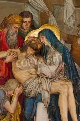 Fototapeta Konający Jezus Chrystus - malowidło z Kalwarii