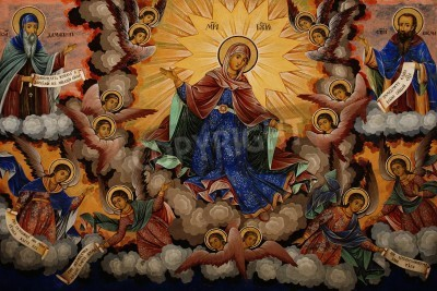 Obraz na płótnie Fresk z klasztoru Św Ivana Riła - Bułgaria