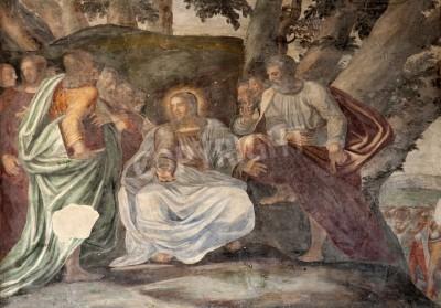 Obraz na płótnie Jezus i Apostołowie - Fresk z Milanu