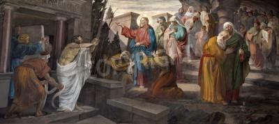 Obraz na płótnie Wskrzeszenie Łazarza - kościół San Giorgio