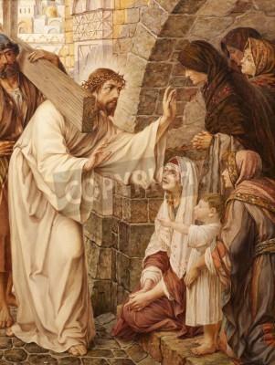 Obraz na płótnie Jezus i płaczące niewiasty