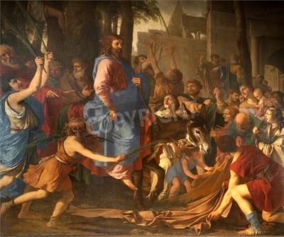 Obraz na płótnie Wejście Jezusa do Jerozolimy