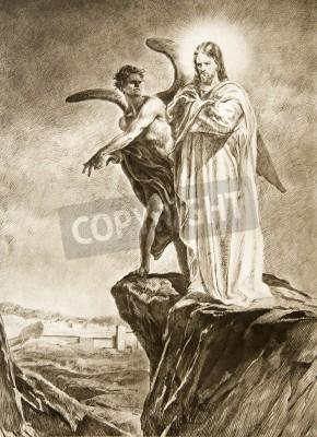 Obraz na płótnie Kuszenie Chrystusa na pustyni