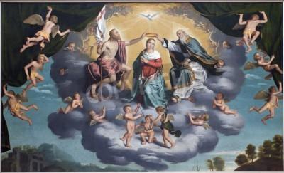 Obraz na płótnie Koronacja Maryi - Giovani Battista Moroni