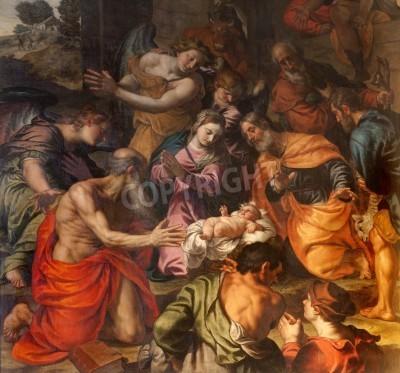 Obraz na płótnie Narodziny Chrystusa - Alessandro Turchi 1608 rok