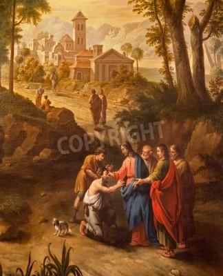 Obraz na płótnie Chrystusa uzdrawia niewidomych na drodze do Jerycha