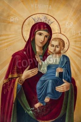 Fototapeta Maryja Panna - Jezus Chrystus z Hagios Dimitrios
