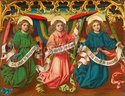 Fototapeta Anioły J. Antoniego w katedrze Matki Bożej - Antwerpia
