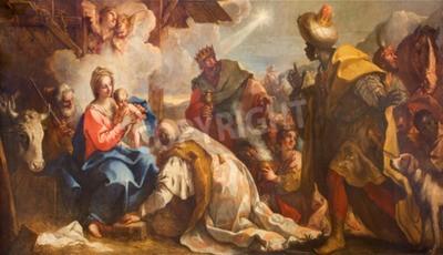 Obraz na płótnie Pokłon trzech króli - Antonio Vassilacchi