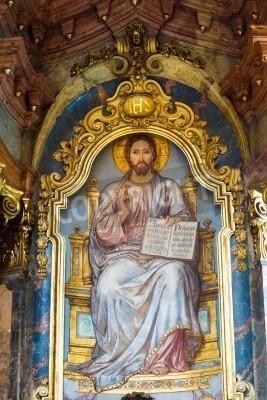 Obraz na płótnie Wnętrze barokowego kościoła Św. Mikołaja w Pradze