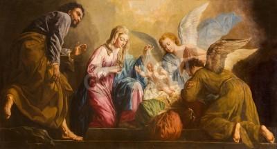 Obraz na płótnie Narodzenie Chrystusa - Giovanni Antonio Pellegrini