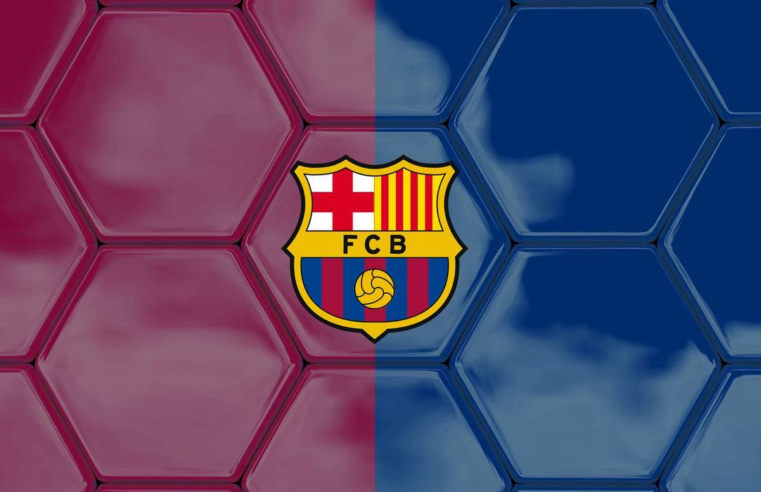 b26c0faf1 Plakat piłka nożna logo fc barcelona na łatach. Podgląd. Plakat ...