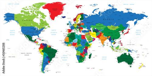 Fototapeta Sztuka Ameryka Mapa Poludnie Europa Dekowizja Pl