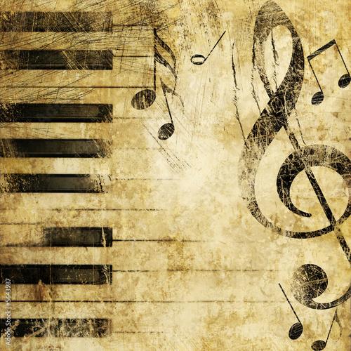 Plakat Muzyczne Tło