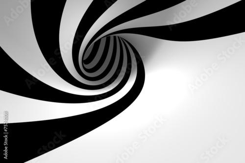 Plakat Biało Czarna Spirala