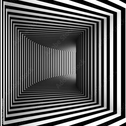 Plakat Korytarz Tunel Perspektywa 3d Wzór