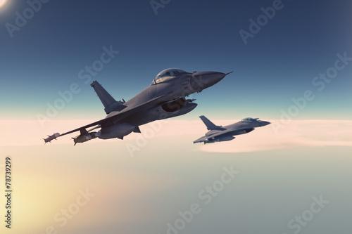 Plakat Samolot Niebo Armia