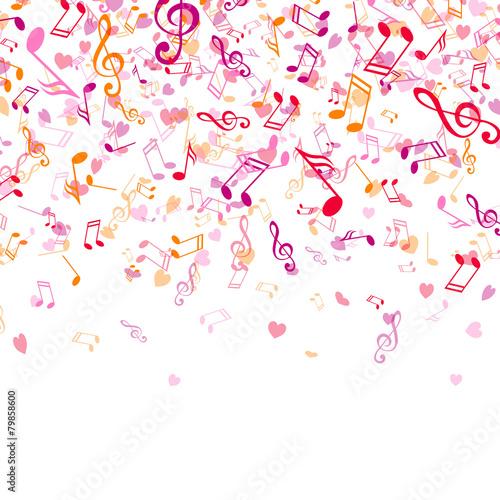Plakat Muzyka Tęcza Kompozycja Gwiazda Abstrakcja