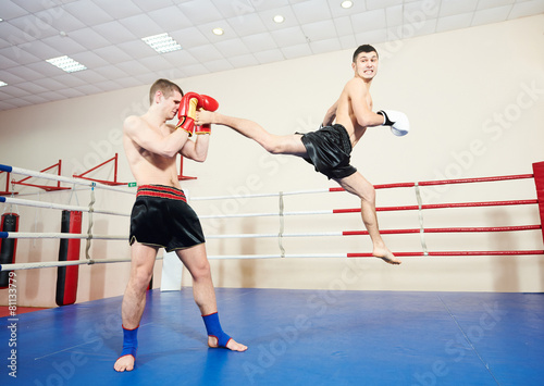 Plakat Sztuki Walki Sztuka Kick Boxing Boks