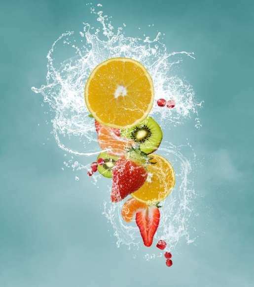 Plakat Owoce Wodzie