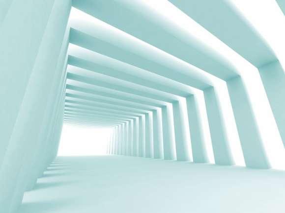 Fototapeta Abstrakcyjny Korytarz 3d