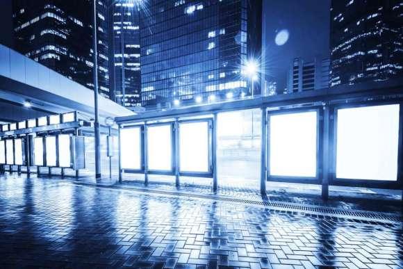 Plakat Przepiękna Sceneria Miasta Nocą