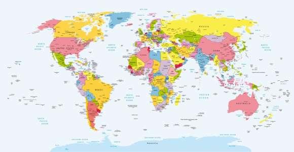 Plakat Polityczna Mapa Swiata Dekowizja Pl